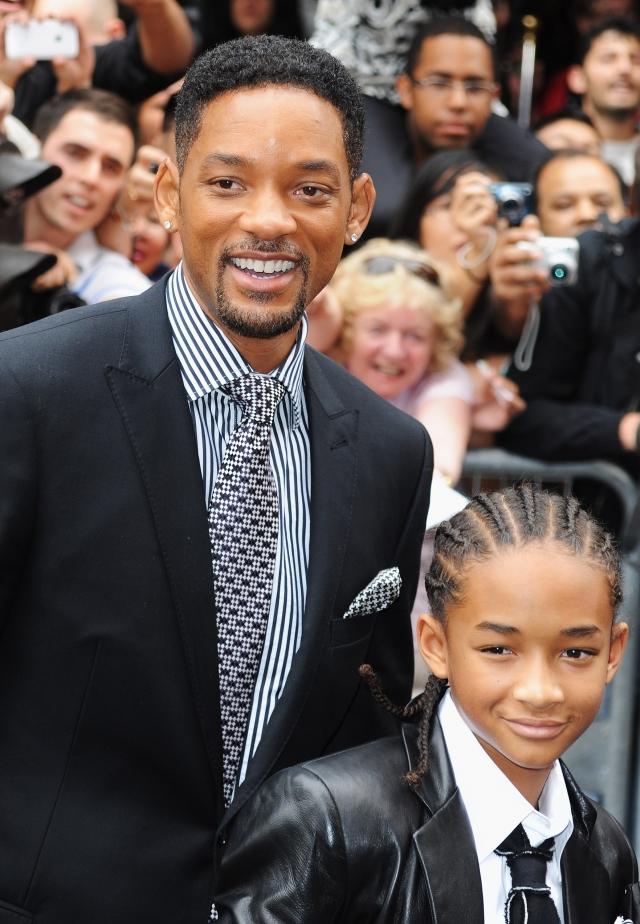 威爾•史密斯(左)與兒子賈登•史密斯。(Getty Images)
