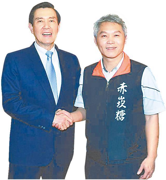 吳易隆精心研發赤崁糖,獲總統馬英九鼓勵。(記者/攝影)