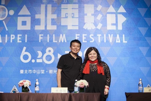 兩岸電影大師黃建新、焦雄屏(右)於台北電影節對談 (台北電影節 提供)