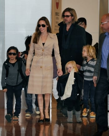 布萊德彼特(Brad Pitt)&安潔莉納裘莉(Angelina Jolie)。(Getty Images)