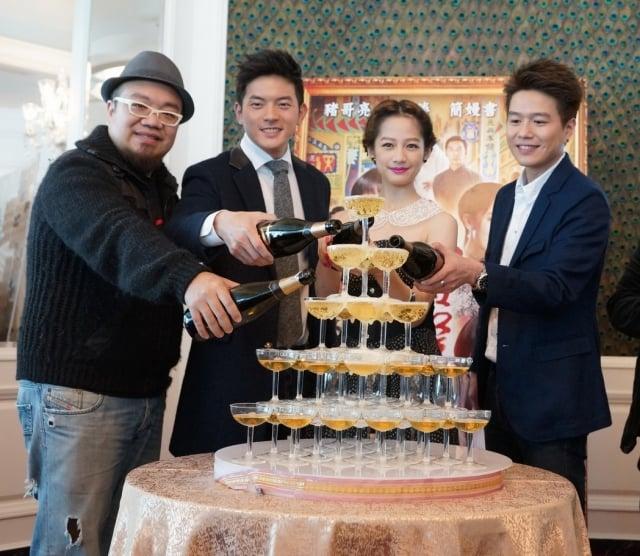 (左起)葉天倫、宥勝、簡嫚書、李易。(海鵬影業提供)