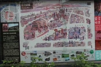 鄂王社區地圖。(記者謝月琴/攝影)