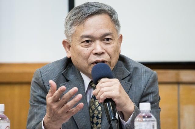 台灣法輪大法學會理事長張清溪。(記者陳柏州/攝影)