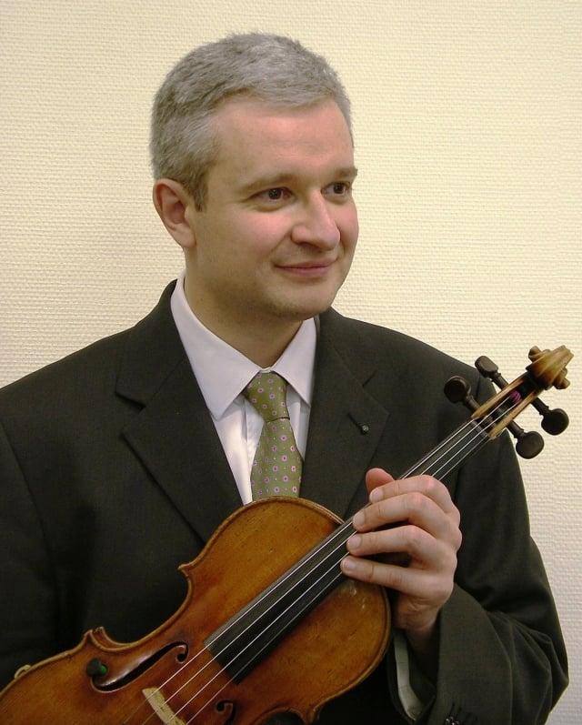 法國文學藝術勳爵小提琴家克里斯托夫.浦利葉(Christophe Boulier)將來台演出。(台灣絃樂團提供)