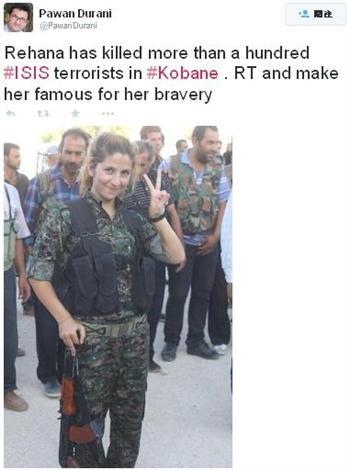 傳庫德族女兵單人擊斃百名ISIS恐怖份子
