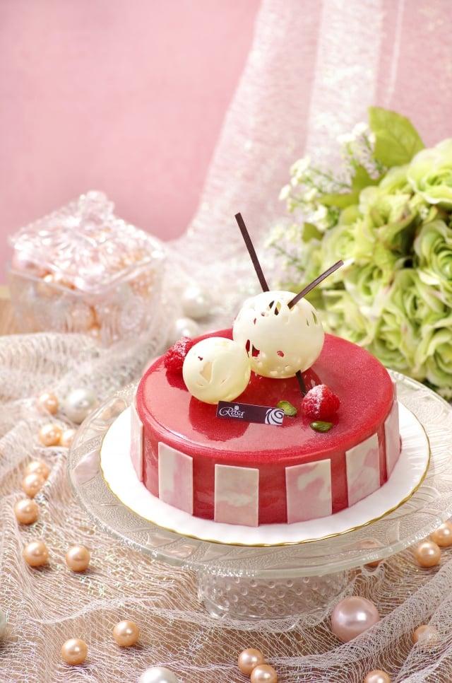 紅色浪漫。(羅撒蛋糕提供)