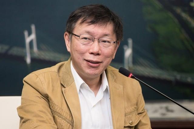 台北市長柯文哲。(記者陳柏州/攝影)