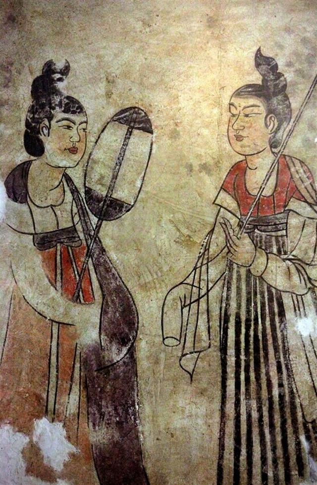 燕妃墓侍奉圖。(維基百科)