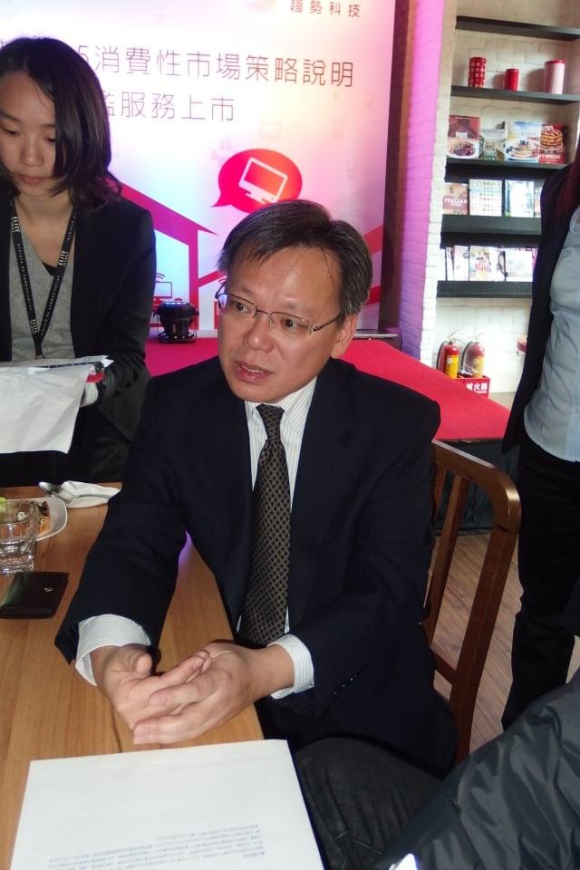趨勢科技台灣區暨香港總經理洪偉淦,直指中國目前成功的企業,是在中國封閉的市場保護傘下,移植國際成功案例才能成功。(記者方惠萱/攝影)