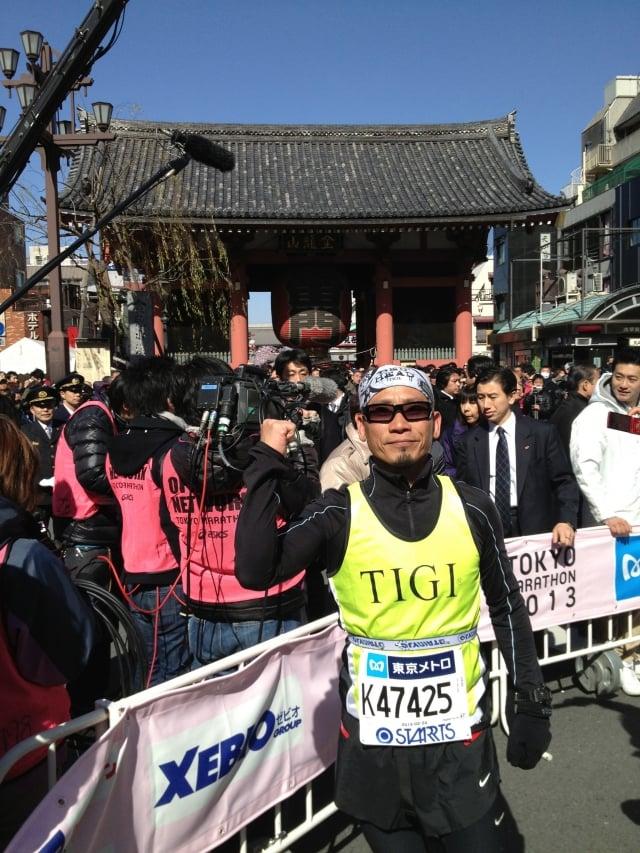 台灣提碁總經理陳崇誠參加2013年東京馬拉松比賽。(台灣提碁提供)