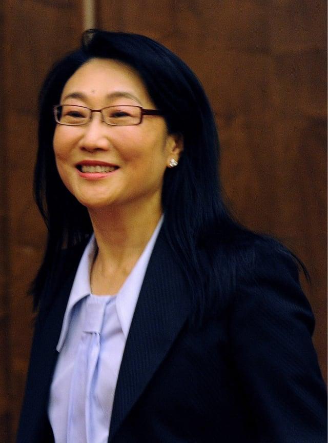 購買TVBS股權的三家公司背後的大股東都指向HTC董事長王雪紅,市場臆測她欲透過這次交易掌控台灣TVBS。(AFP)