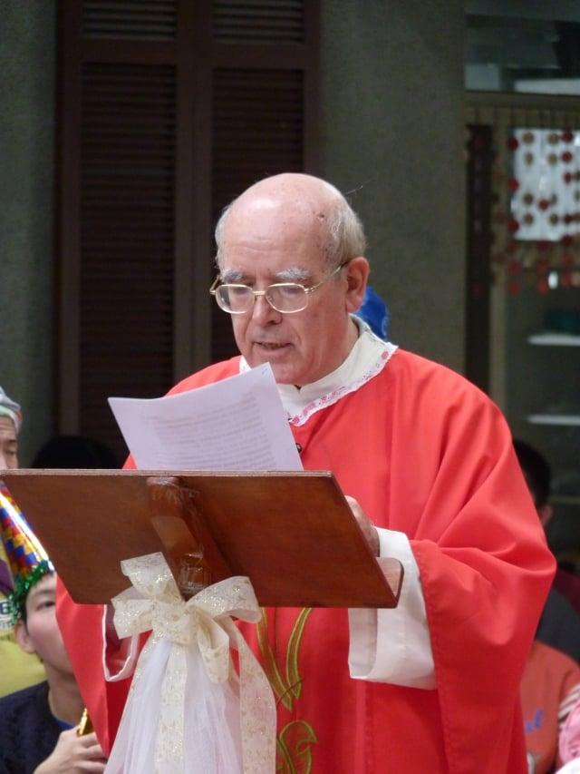 呂若瑟神父主持彌撒。(靈醫會提供)