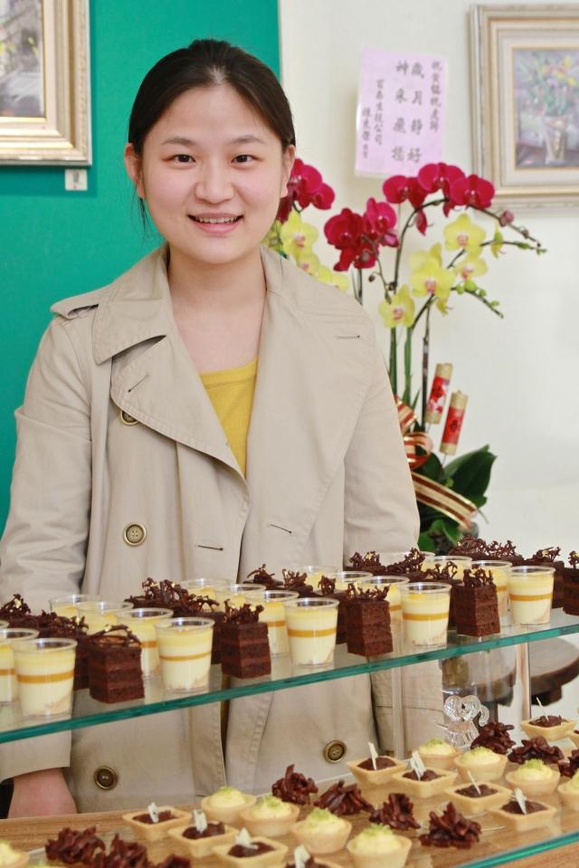 吳珮蓁的美學蛋糕,安心食材的好滋味。(記者許享富/攝影)
