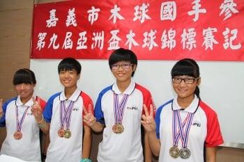 【台灣之光】嘉義國中4女將 亞洲盃木球賽奪金