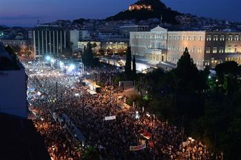希臘公投倒計時 萬人集會 雙方激烈對峙