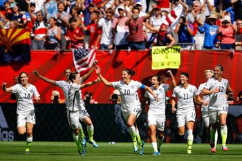 2015女足世界盃 美國5:2勝日本
