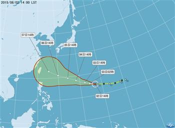 颱風蘇迪勒爸爸節攪局?週二明朗