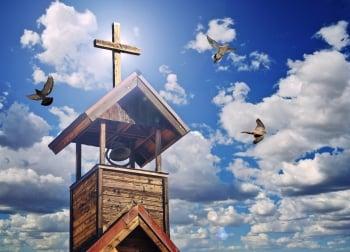敲響祈禱的鐘聲