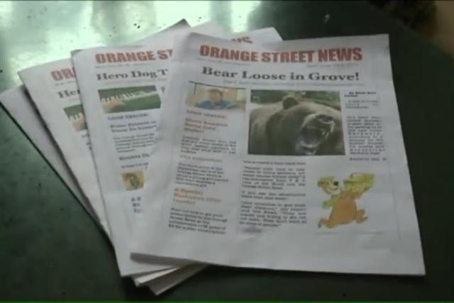 這是希爾德自創的報紙「Orange Street News」,是以她所在街區的名字命名。