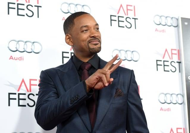 威爾史密斯11日出席《震盪效應》好萊塢首映禮。(Getty Images)