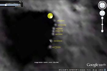 【影片】 UFO探索者使用谷歌發現月球上神秘發光物