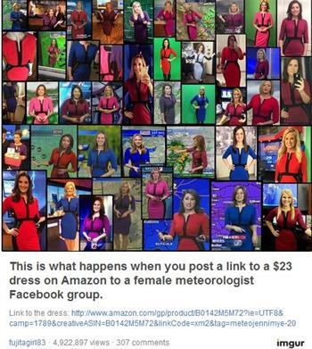 一條23美元裙子 讓全美50名氣象主播不惜撞衫
