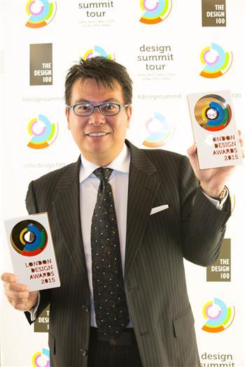 設計師蔡竺欣12月10日前往英國倫敦領獎。(蔡竺欣提供)