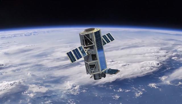 美國國防高等研究計劃署與諾斯羅普‧格魯門(Northrop Grumman)科技公司合作研發衛星熔毀技術的構想,是希望設計出一種可以蒐獵、追蹤並能以簡單物理原理摧毀敵人防禦衛星的熔毀衛星。(DARPA)