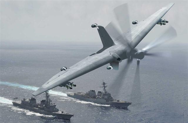 國防高級研究計劃署的「戰術利用偵察節點計畫」,是研發一種可以在較小軍艦上起降的小型無人機,讓所有的海上軍艦成為可進行情報、監視、偵察與戰鬥用途的無人機母艦。(DARPA)