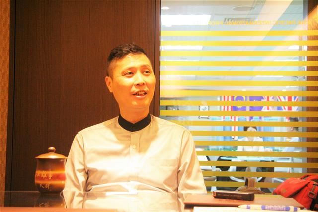 亞太國際地產總經理秦啟松。(記者凱倫/攝影)