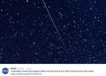 5月星空好熱鬧 哈雷彗星帶來水瓶座流星雨