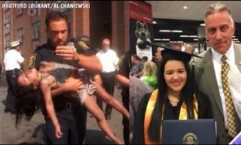 美巡警18年前救幼女 現參加她的畢業典禮