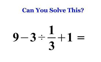 這道小學數學題9-3÷1/3+1你答對了嗎?有4成的日本年輕人被難倒哦~(有片)