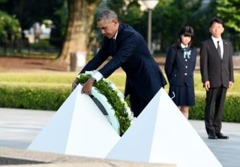歐巴馬歷史性訪問 廣島獻花未道歉