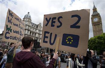 53萬人聯署第二次公投 英國下議院網站癱瘓
