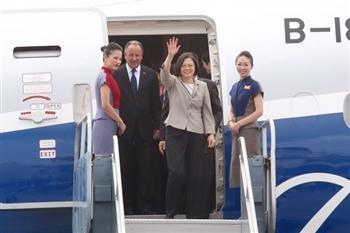 創歷史紀錄 蔡英文總統專機飛越古巴上空