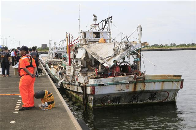 雄三飛彈貫穿漁船 造成漁船長身亡