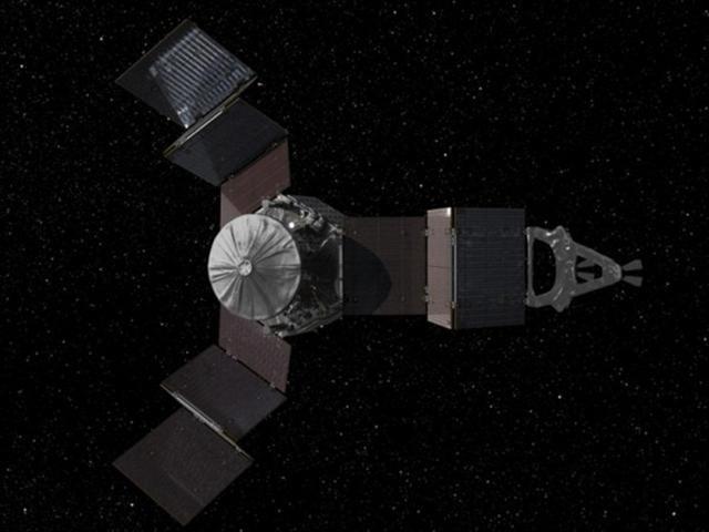 將以5年的時間飛往木星的探測器「朱諾號」(Juno)示意圖。(圖片來源:NASA)