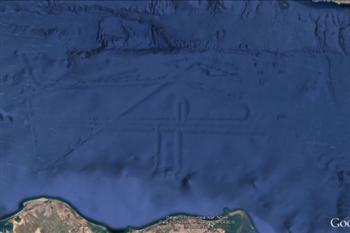 谷歌地圖驚現墨西哥海底巨大神秘建築