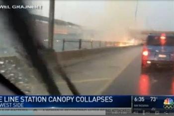 芝加哥地鐵站被雷電擊中 驚悚影片曝光
