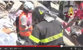 意大利古城強震感人一幕 8歲女孩捨身救妹