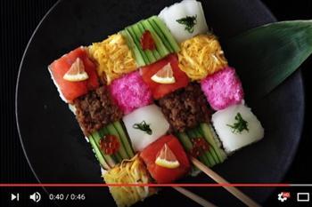 日本當紅馬賽克壽司 視覺與味覺雙重享受
