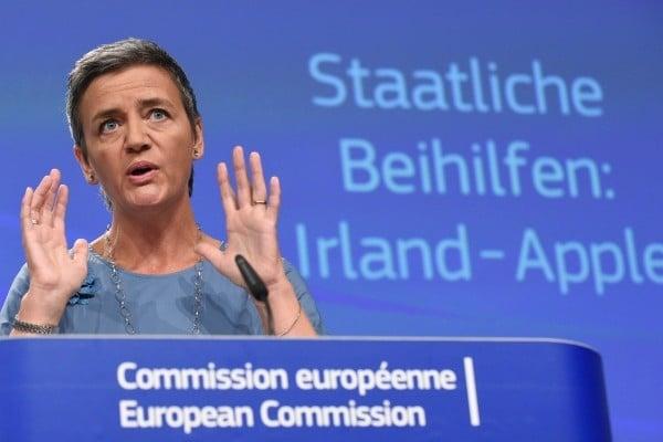 歐盟競爭委員會專員 Margrethe Vestager宣布,將對蘋果公司重罰130億歐元。(Getty Images)