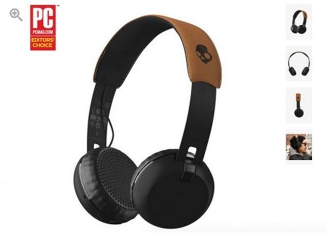 Grind Wireless藍牙耳機專為音樂人打造,其音質與外型都非常亮麗。(Skullcandy官網截圖)