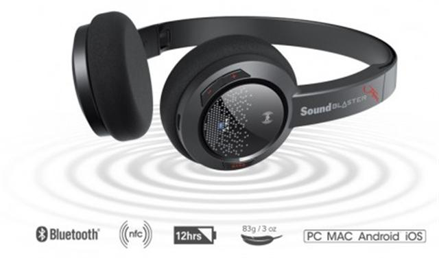Sound Blaster Jam外型輕巧、耳墊柔軟,電池最高續航12小時。(Creative官網截圖)