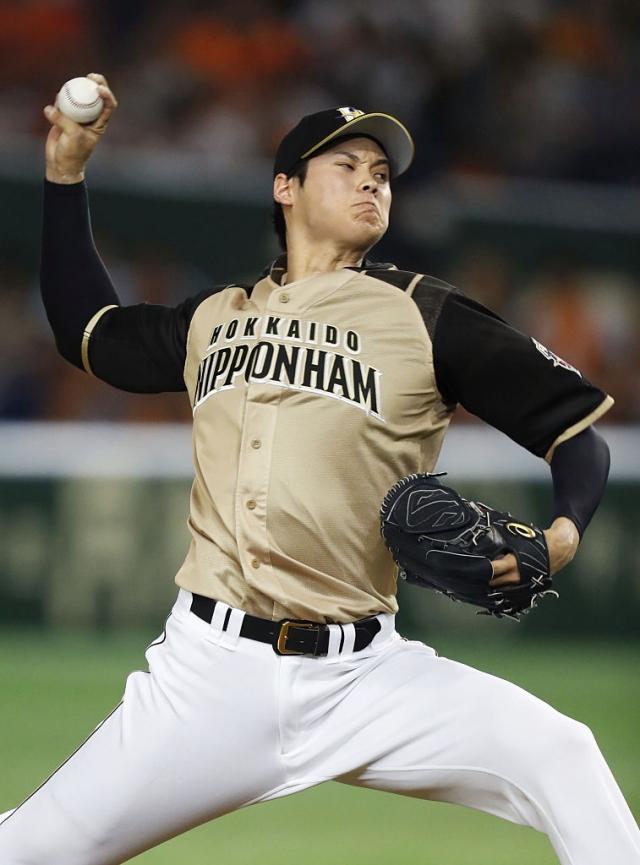 日本火腿鬥士的王牌投手大谷翔平。(Getty Images)