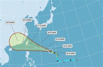 颱風梅姬暴風圈擴大 最快25日晚發海警