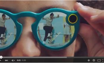 【影片】Snapchat推新品:太陽眼鏡內置相機 可上網傳輸影像