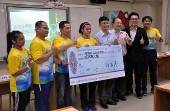 許淑淨回饋母校 捐20萬體育基金
