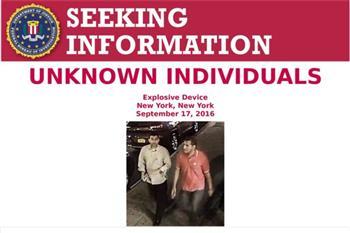 FBI確認紐約爆炸案中挪動炸彈兩男身份